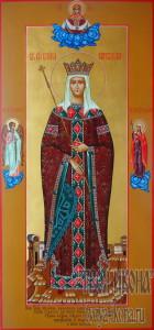 Елена Сербская, королева, преподобная мерная икона