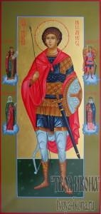 Георгий Победоносец мерная икона