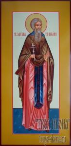Захария Египтянин, Скитский, преподобный мерная икона