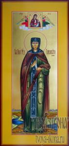 Елисавета Константинопольская Чудотворица мерная икона