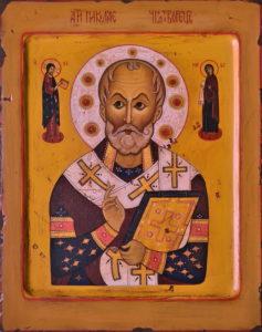 Николай Чудотворец. Рукописная икона.
