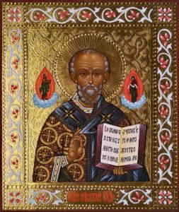 Николай Чудотворец, Святитель. Рукописная икона.