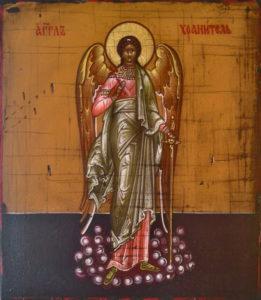 Ангел-Хранитель. Рукописная икона.