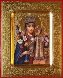Неувядаемый Цвет. Рукописная икона Пресвятой Божией Матери.