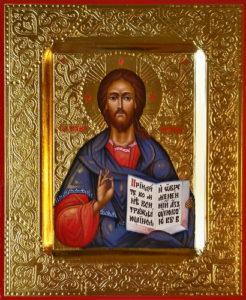 Господь Вседержитель. Рукописная икона. 13х16см.