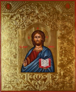 Господь Вседержитель. Рукописная икона 17,5х21см.
