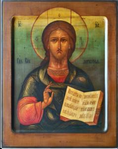 Господь Вседержитель Спаситель. Рукописная икона.