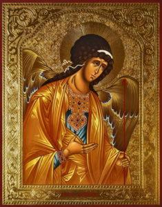 Ангел Хранитель рукописная икона