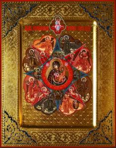 Неопалимая Купина рукописная икона
