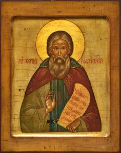 Сергий Радонежский. Рукописная икона.