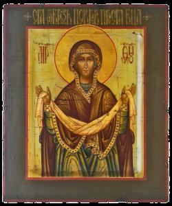 Покров. Икона Пресвятой Божией Матери. Рукописная икона.