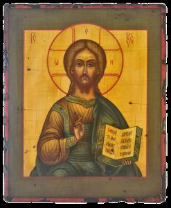 Образ Господа Вседержителя (Спасителя).Рукописная икона.