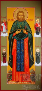 Димитрий (Спасский), священномученик, иерей мерная икона